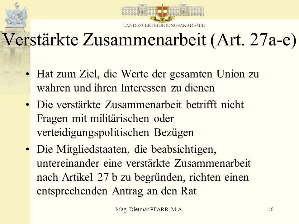 Verstärkte Zusammenarbeit (Art. 27a-e)