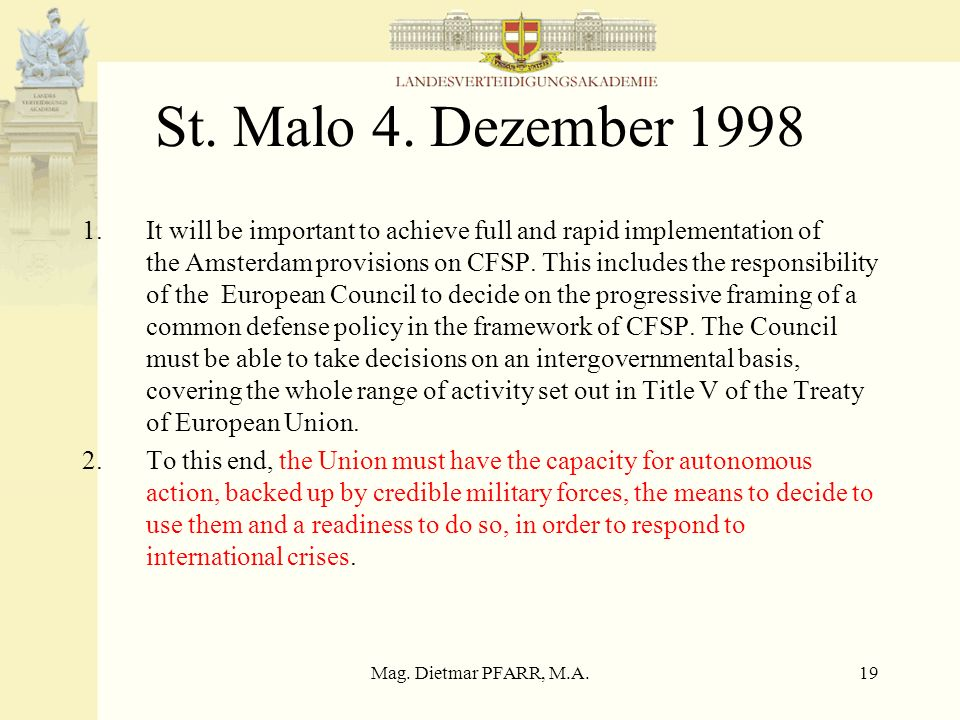 St. Malo 4. Dezember 1998