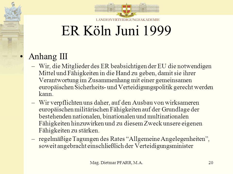 ER Köln Juni 1999 Anhang III.