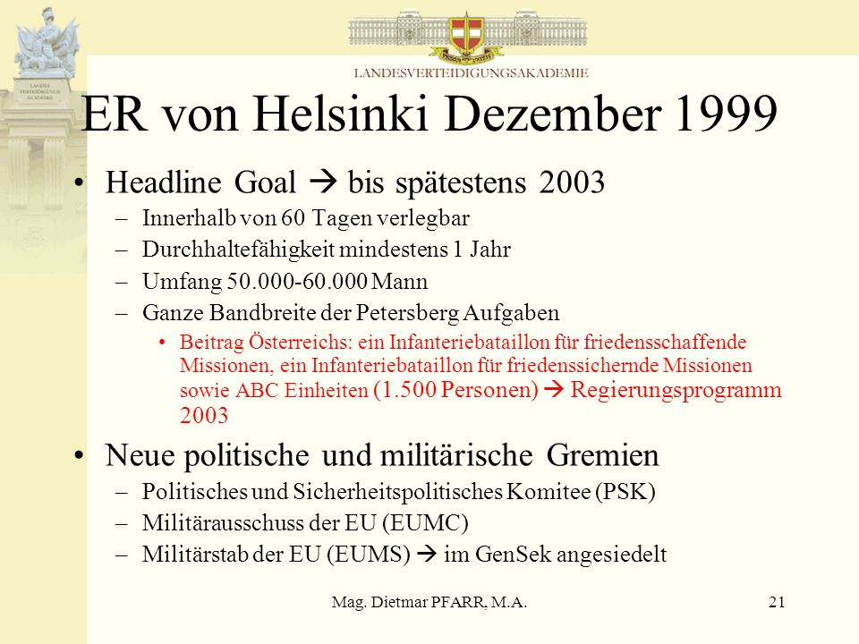 ER von Helsinki Dezember 1999