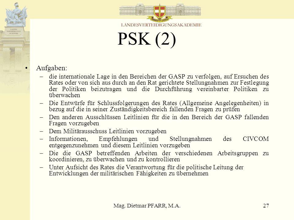 PSK (2) Aufgaben: