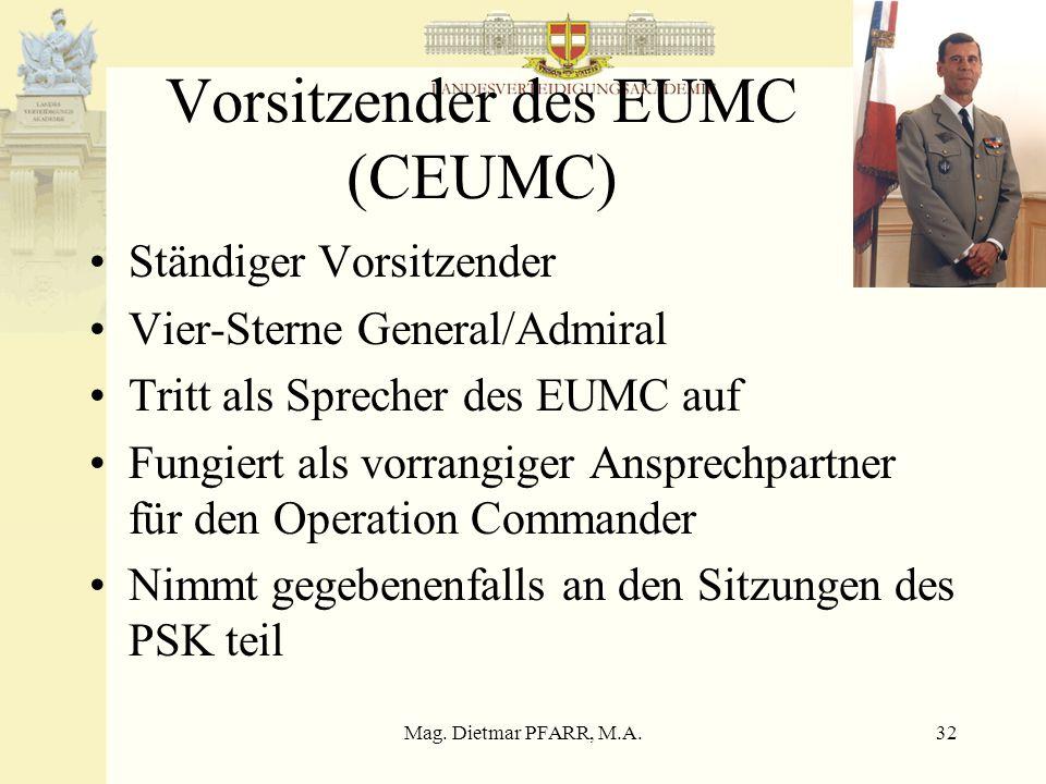 Vorsitzender des EUMC (CEUMC)