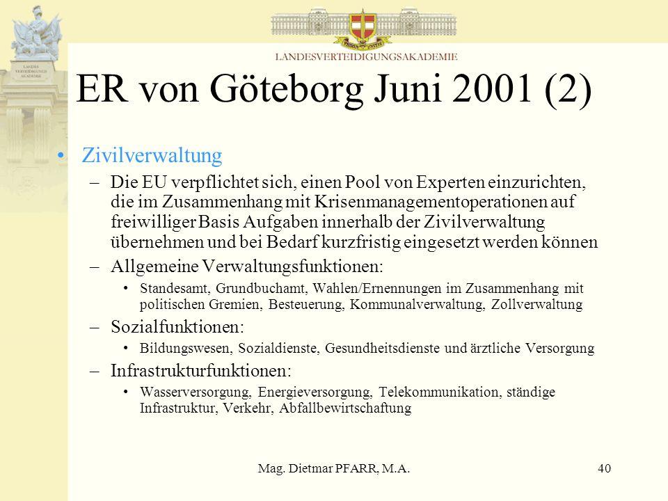 ER von Göteborg Juni 2001 (2) Zivilverwaltung