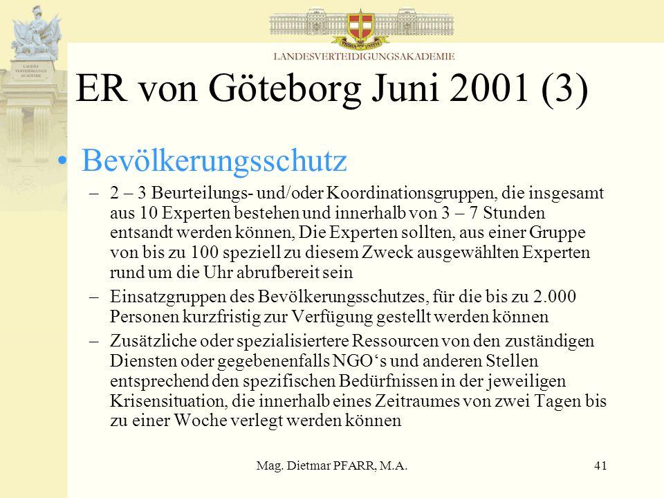 ER von Göteborg Juni 2001 (3) Bevölkerungsschutz