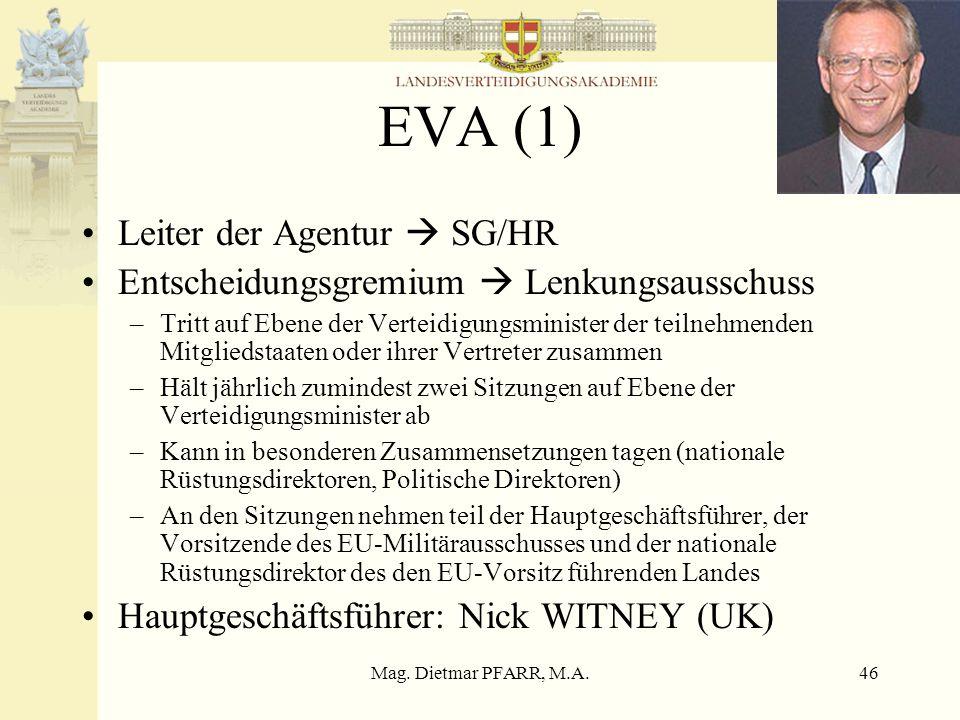 EVA (1) Leiter der Agentur  SG/HR