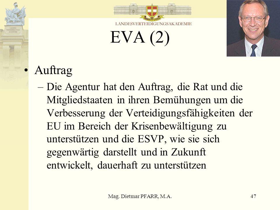 EVA (2) Auftrag.