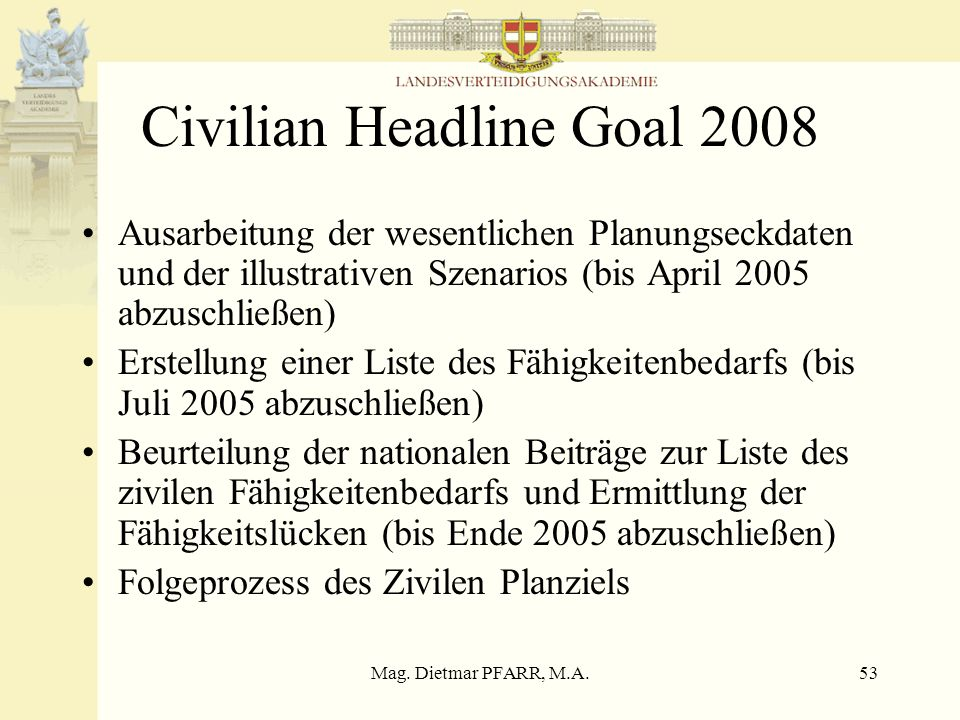 Civilian Headline Goal 2008