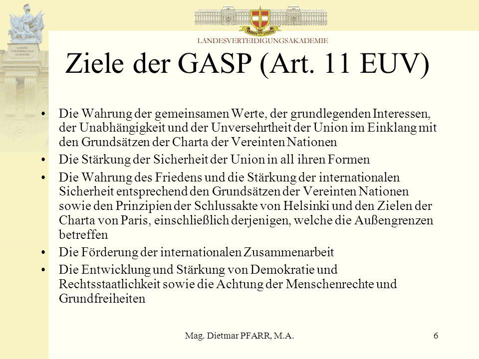 Ziele der GASP (Art. 11 EUV)