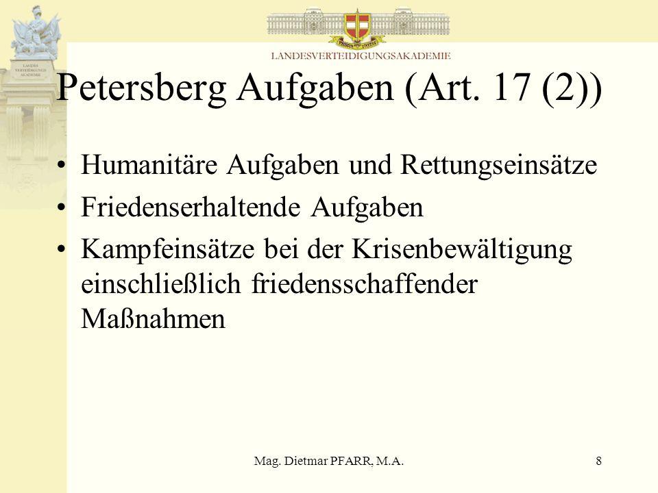 Petersberg Aufgaben (Art. 17 (2))