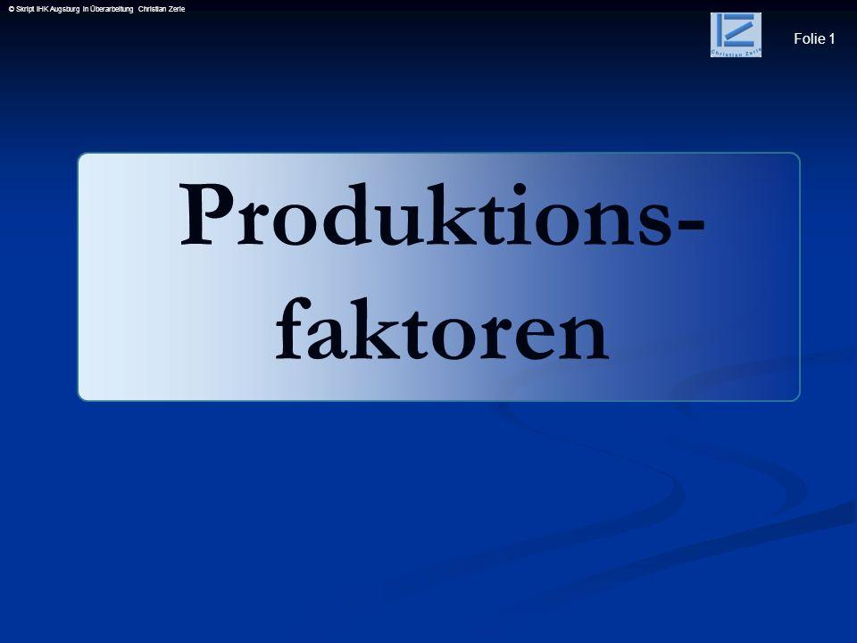 Produktions- faktoren