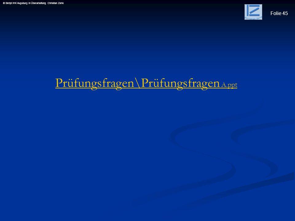 Prüfungsfragen\Prüfungsfragen A.ppt