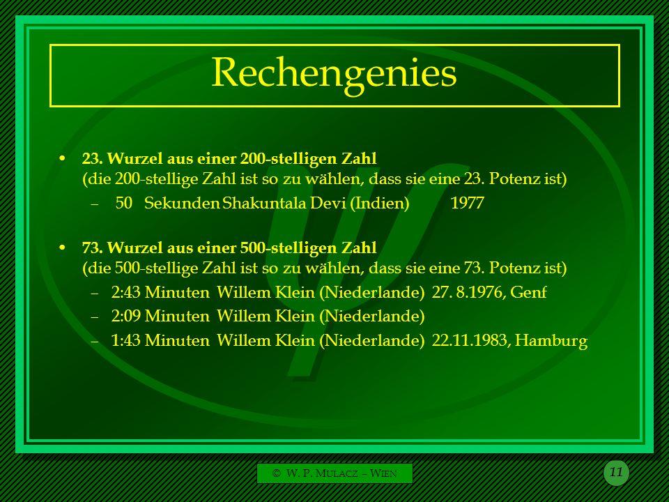 Rechengenies 23. Wurzel aus einer 200-stelligen Zahl (die 200-stellige Zahl ist so zu wählen, dass sie eine 23. Potenz ist)