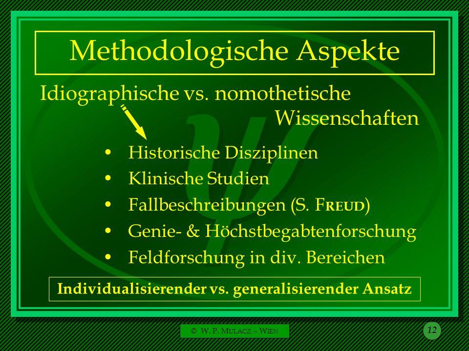 Methodologische Aspekte