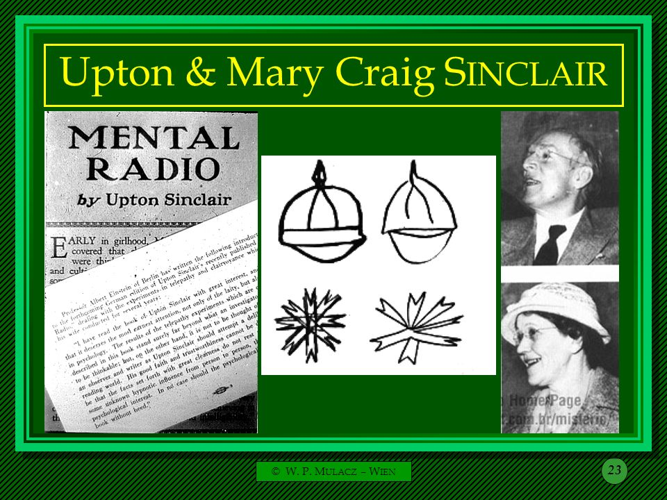 Upton & Mary Craig SINCLAIR