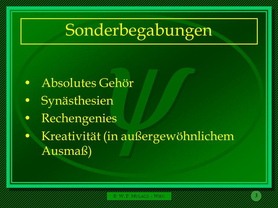 Sonderbegabungen Absolutes Gehör Synästhesien Rechengenies