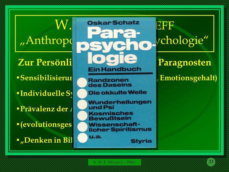 "W. H. C. TENHAEFF ""Anthropologische Parapsychologie"