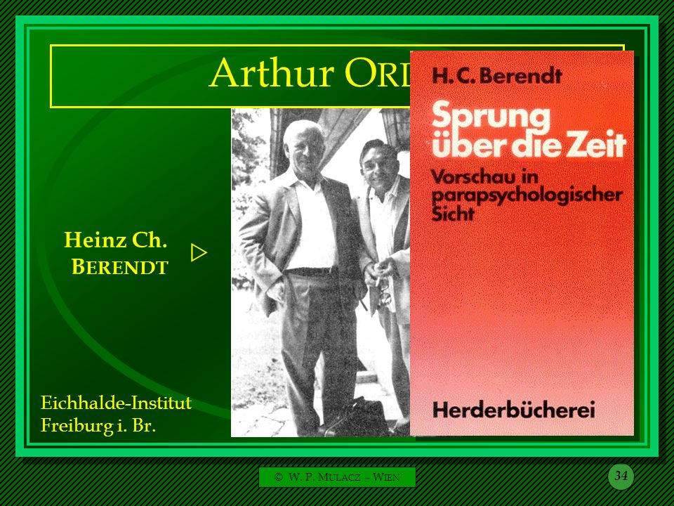 Arthur ORLOP Heinz Ch. BERENDT Arthur ORLOP  