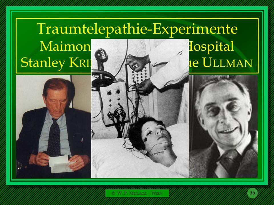 Traumtelepathie-Experimente Maimonides Memorial Hospital Stanley KRIPPNER - Montague ULLMAN