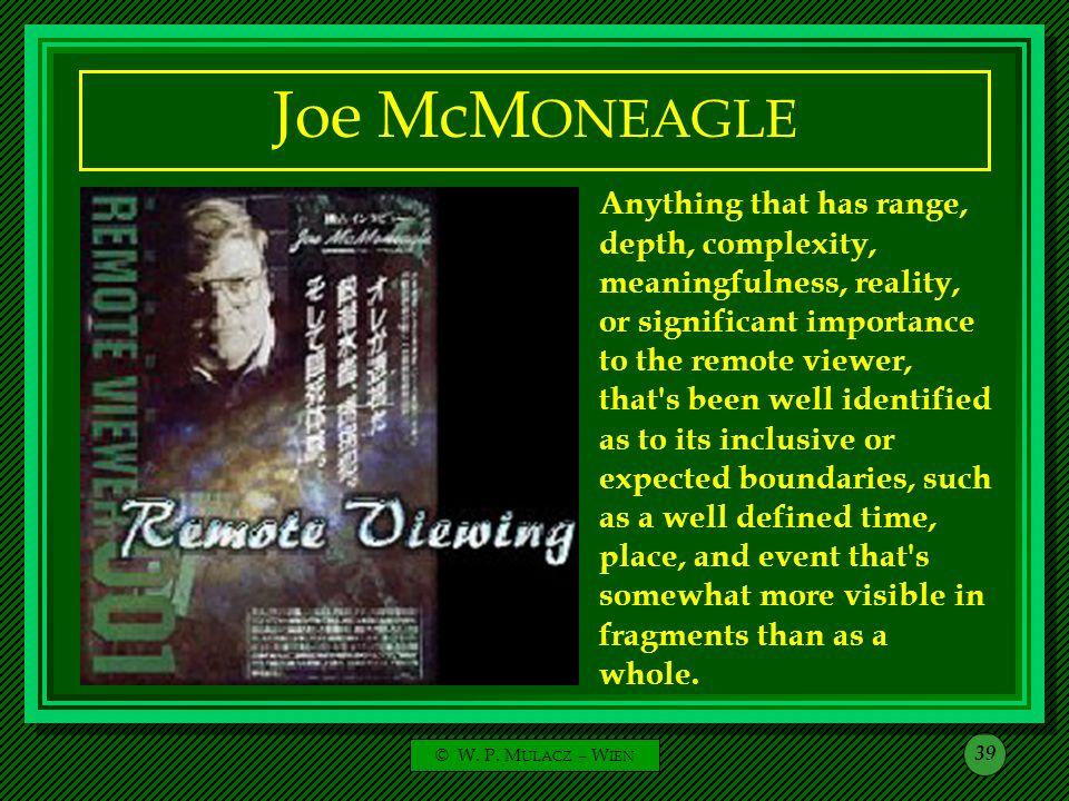 Joe McMONEAGLE