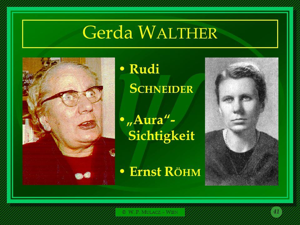 """Gerda WALTHER Rudi SCHNEIDER """"Aura - Sichtigkeit Ernst RÖHM"""