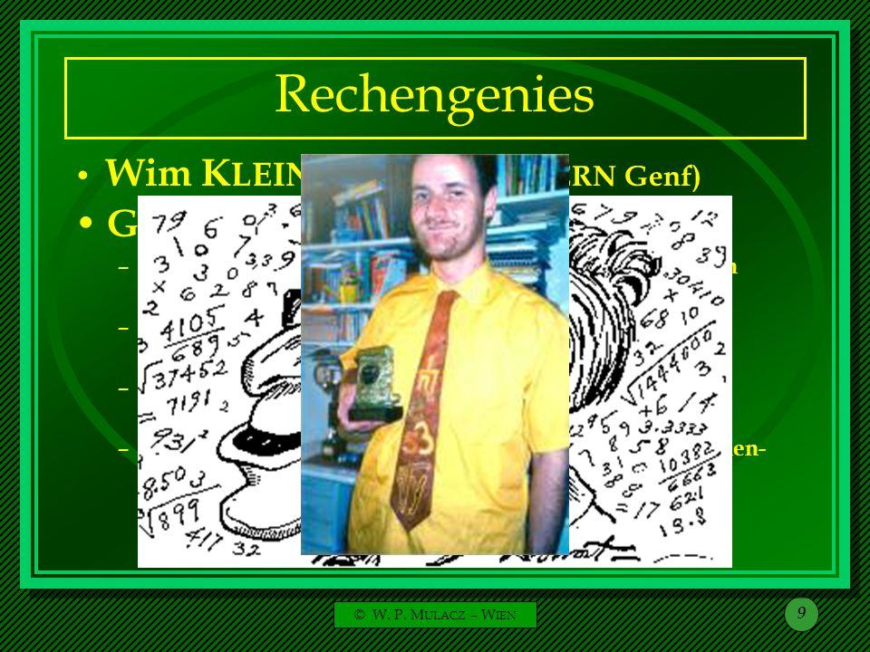 Rechengenies Gert MITTRING (Deutschland):