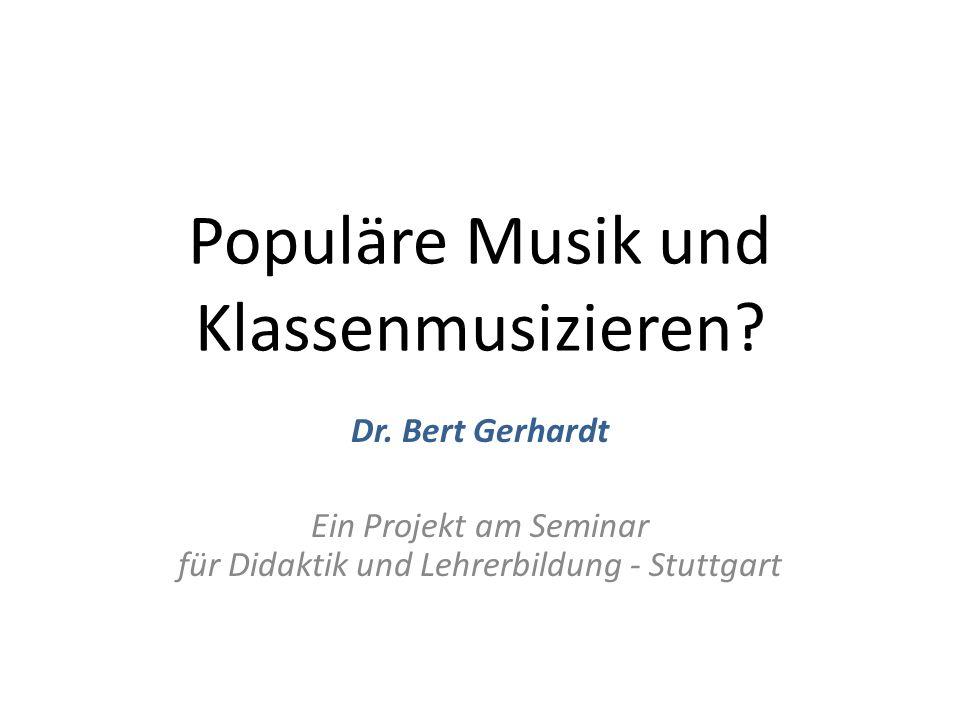 Populäre Musik und Klassenmusizieren
