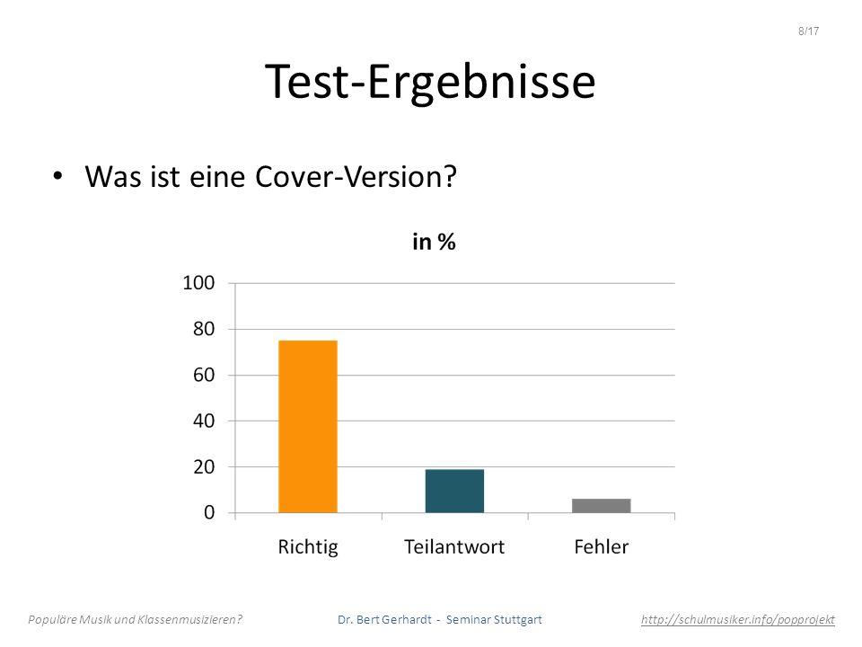 Test-Ergebnisse Was ist eine Cover-Version