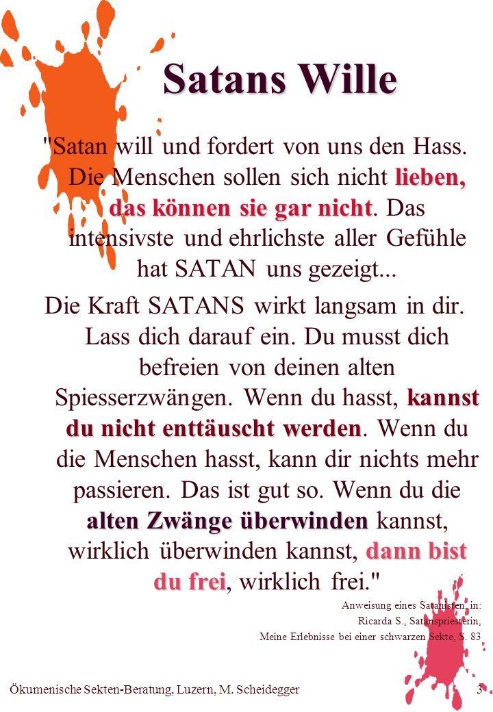 Satans Wille