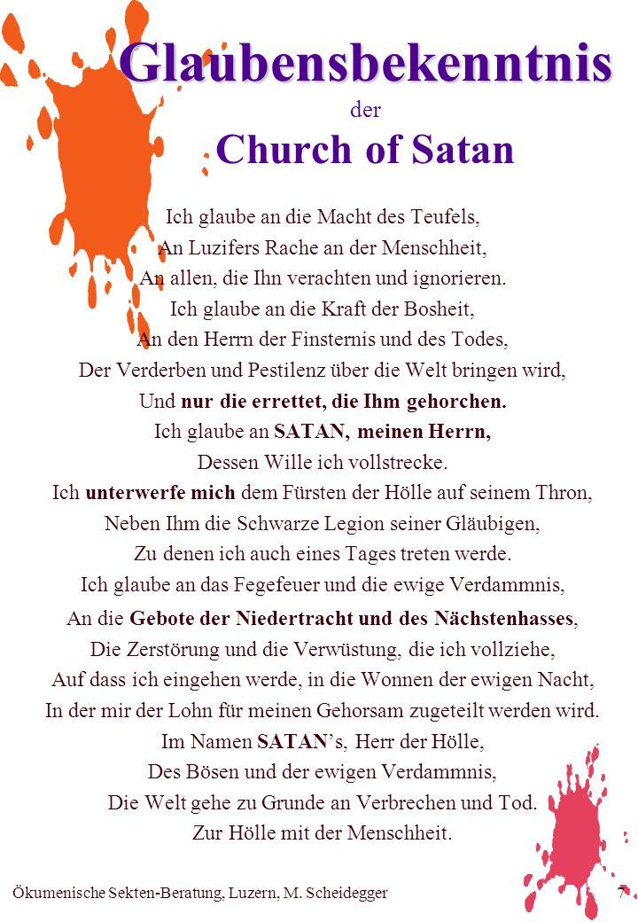 Glaubensbekenntnis der Church of Satan