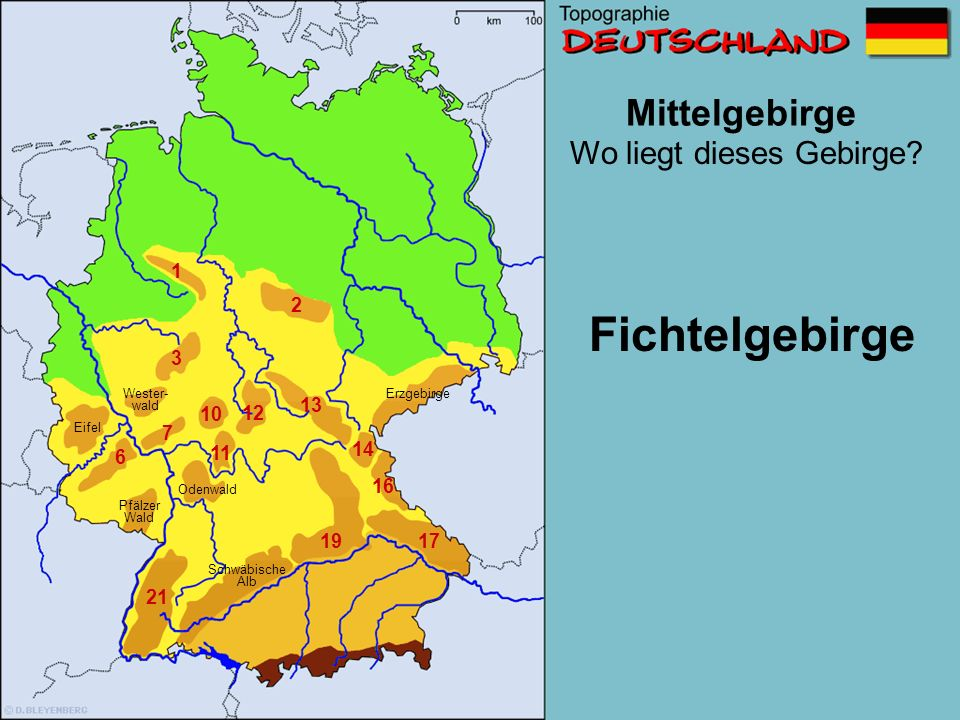 Fichtelgebirge Mittelgebirge Wo liegt dieses Gebirge 1 2 3 13 10 12 7