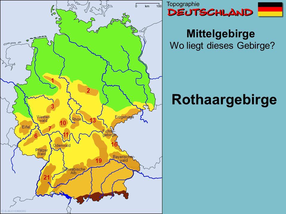 Rothaargebirge Mittelgebirge Wo liegt dieses Gebirge 1 2 3 13 10 7 11