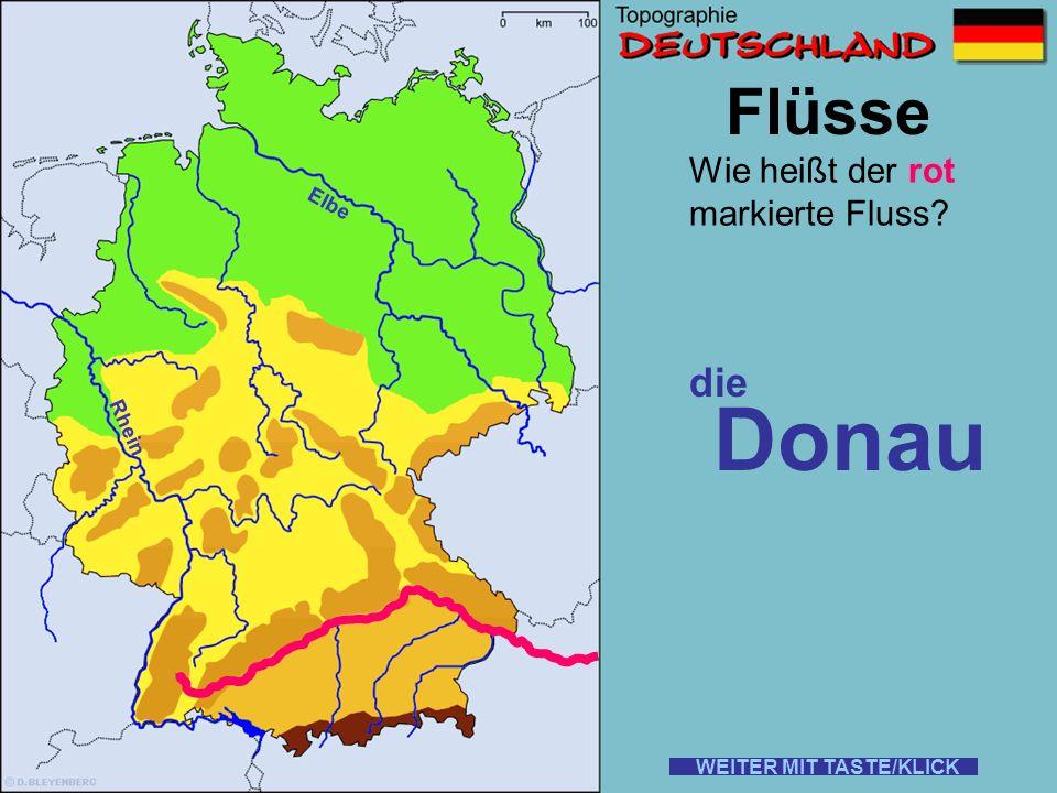 Donau Flüsse die Wie heißt der rot markierte Fluss Elbe Rhein