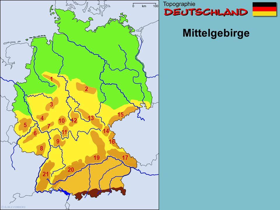 Mittelgebirge 1 2 3 15 4 13 10 12 5 7 11 14 6 9 16 8 19 17 20 21