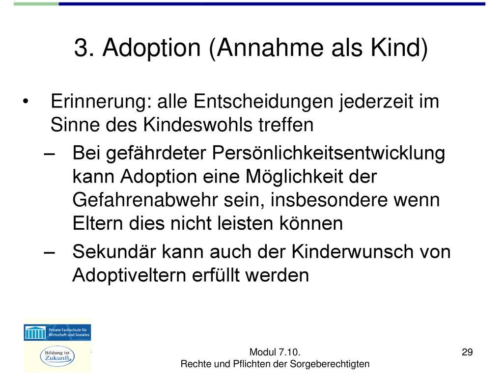 adoption rechte und pflichten