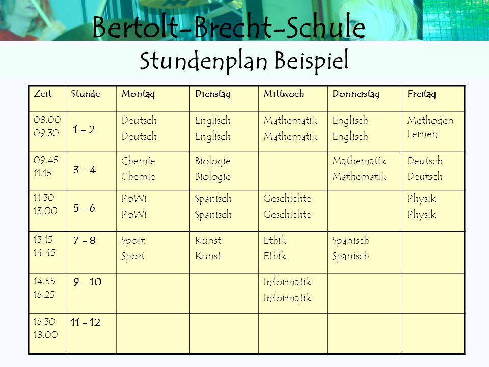 Stundenplan Beispiel 1 - 2 Deutsch Englisch Mathematik Methoden Lernen