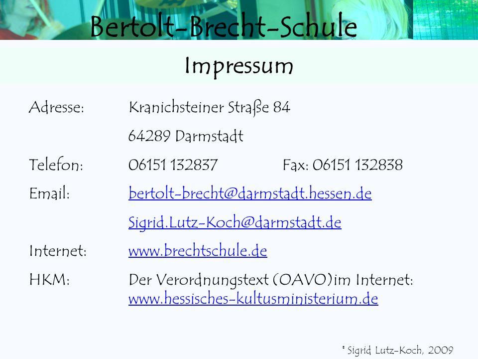 Impressum Adresse: Kranichsteiner Straße 84 64289 Darmstadt
