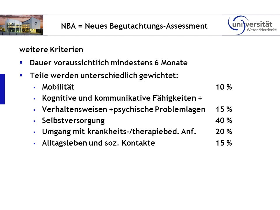 NBA = Neues Begutachtungs-Assessment