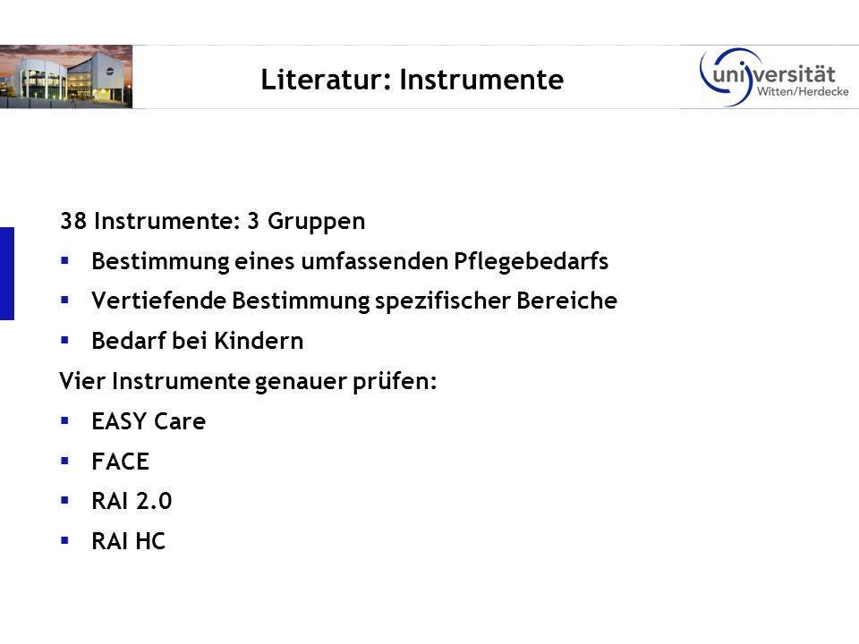 Literatur: Instrumente