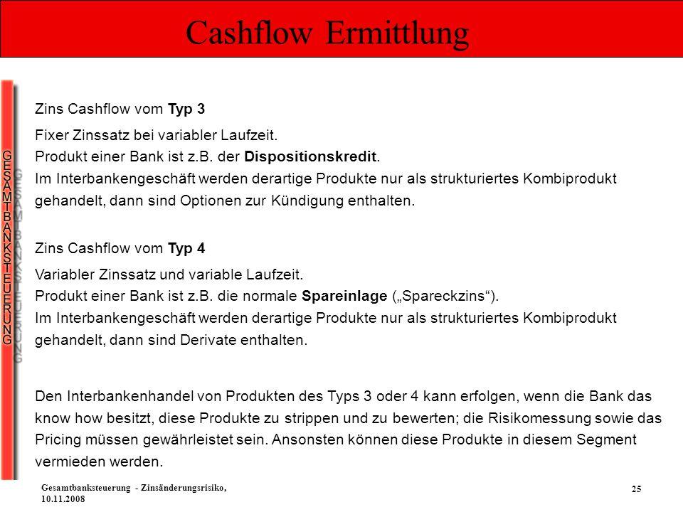 Cashflow Ermittlung Zins Cashflow vom Typ 3