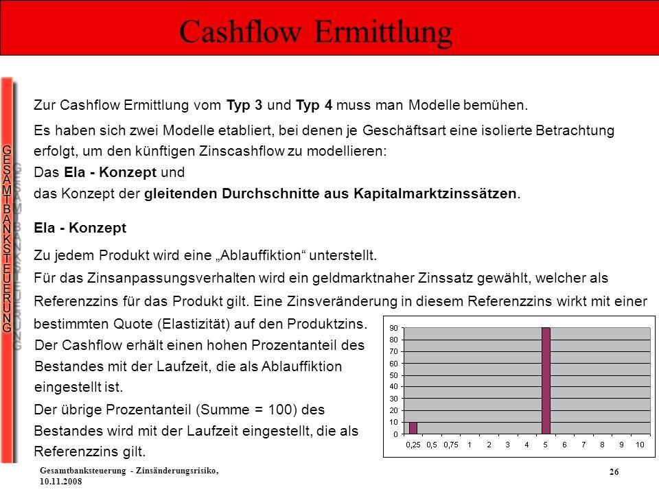 Cashflow Ermittlung Zur Cashflow Ermittlung vom Typ 3 und Typ 4 muss man Modelle bemühen.