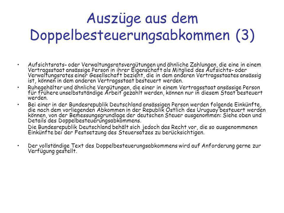 Auszüge aus dem Doppelbesteuerungsabkommen (3)