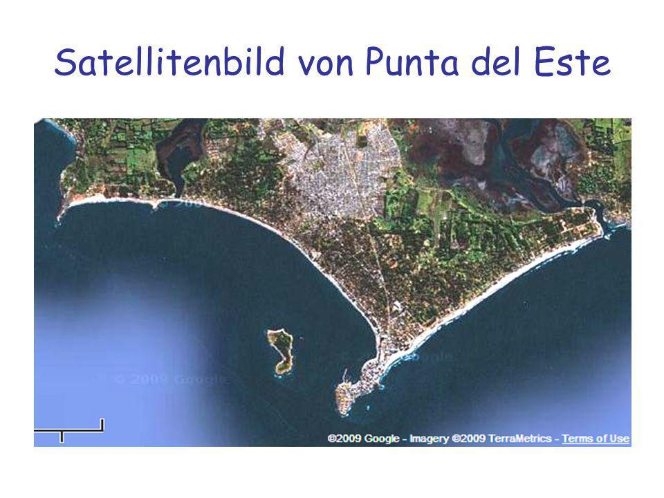 Satellitenbild von Punta del Este
