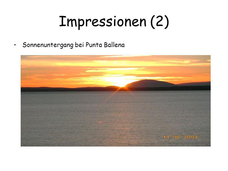Impressionen (2) Sonnenuntergang bei Punta Ballena