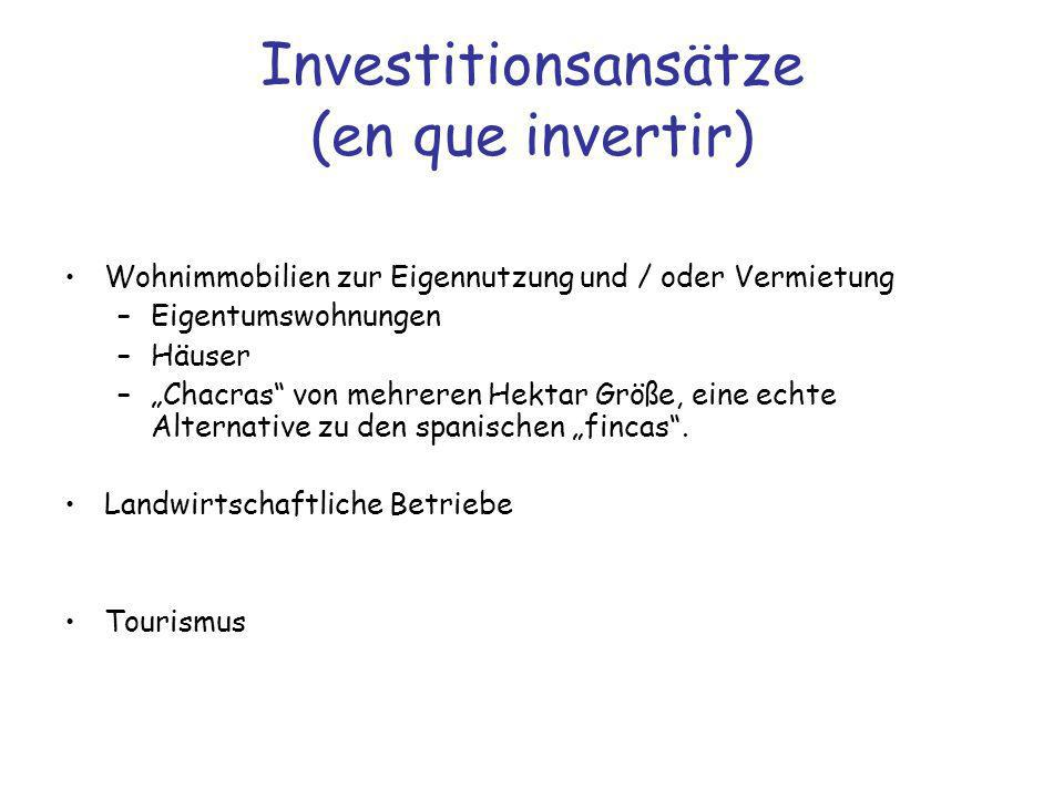 Investitionsansätze (en que invertir)