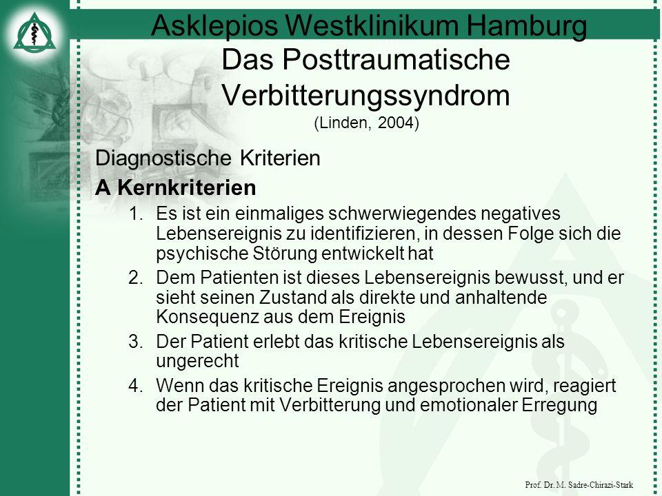 Das Posttraumatische Verbitterungssyndrom (Linden, 2004)
