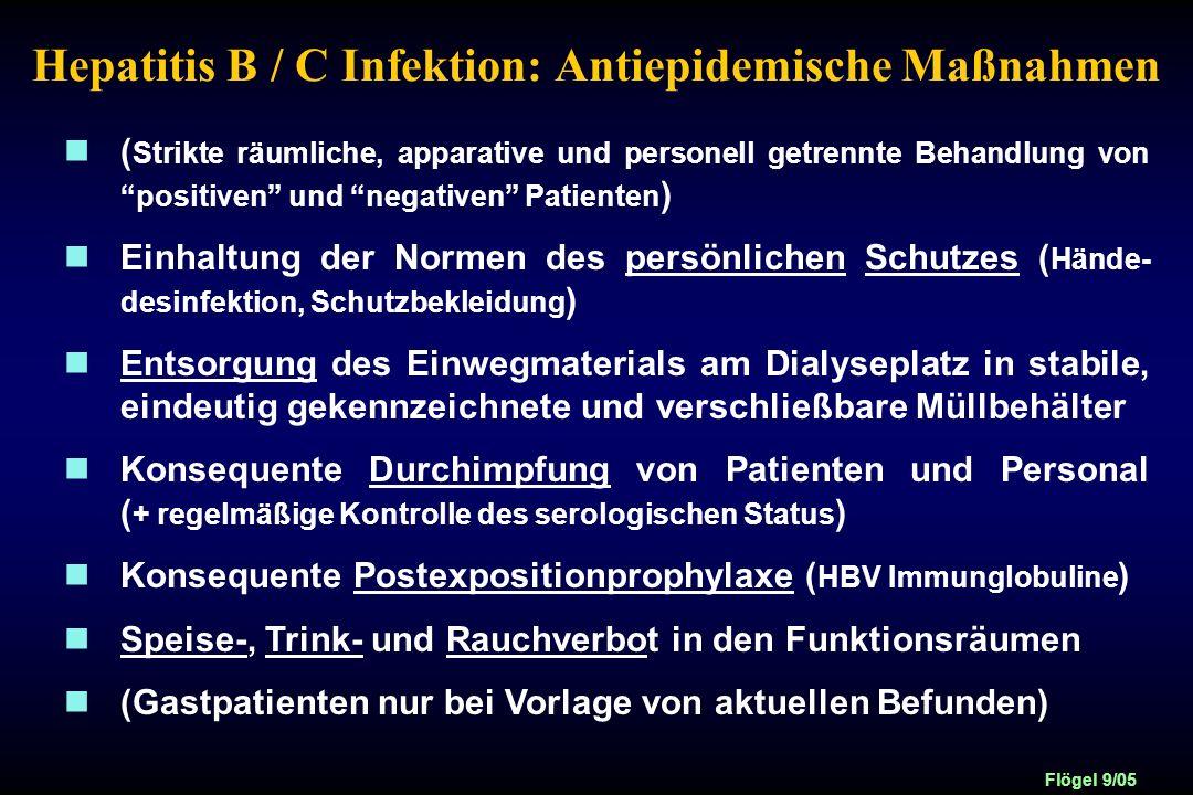 Hepatitis B / C Infektion: Antiepidemische Maßnahmen