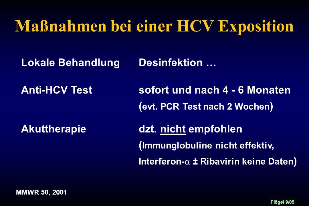 Maßnahmen bei einer HCV Exposition