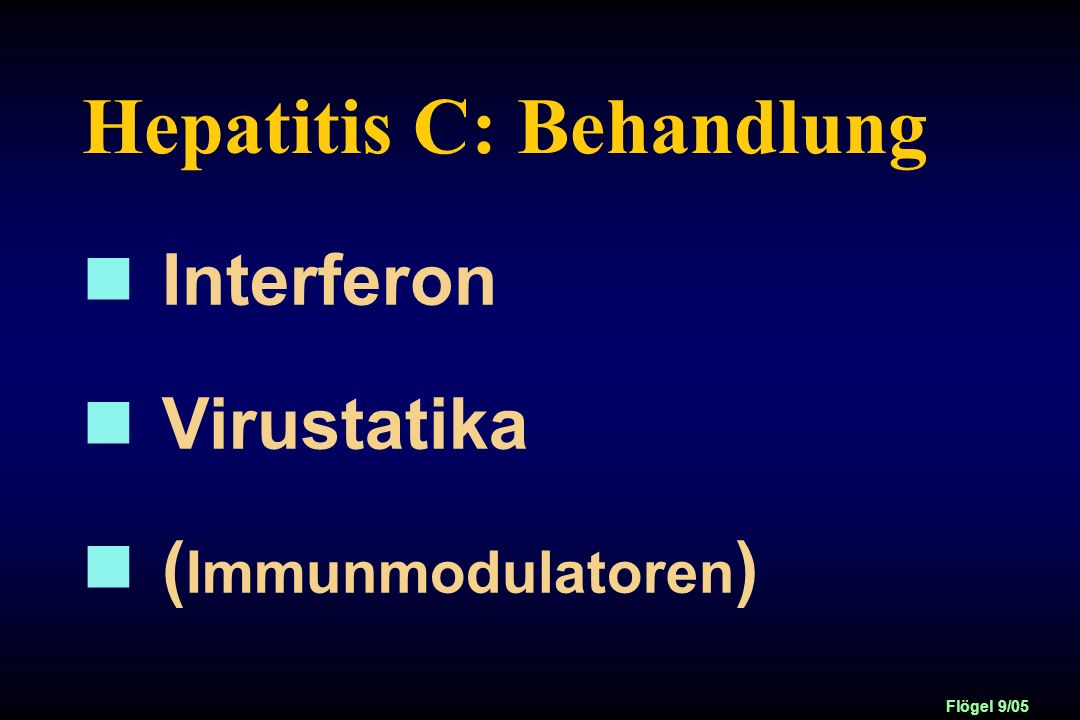 Hepatitis C: Behandlung