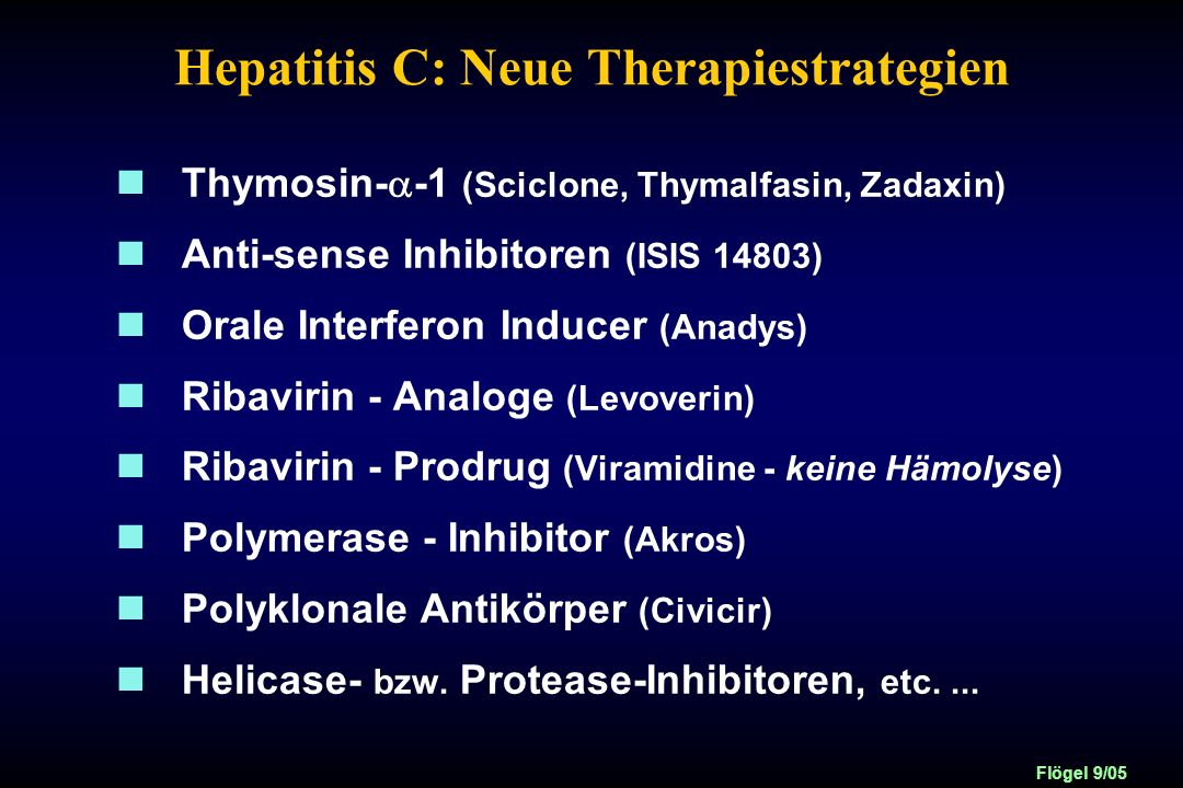 Hepatitis C: Neue Therapiestrategien