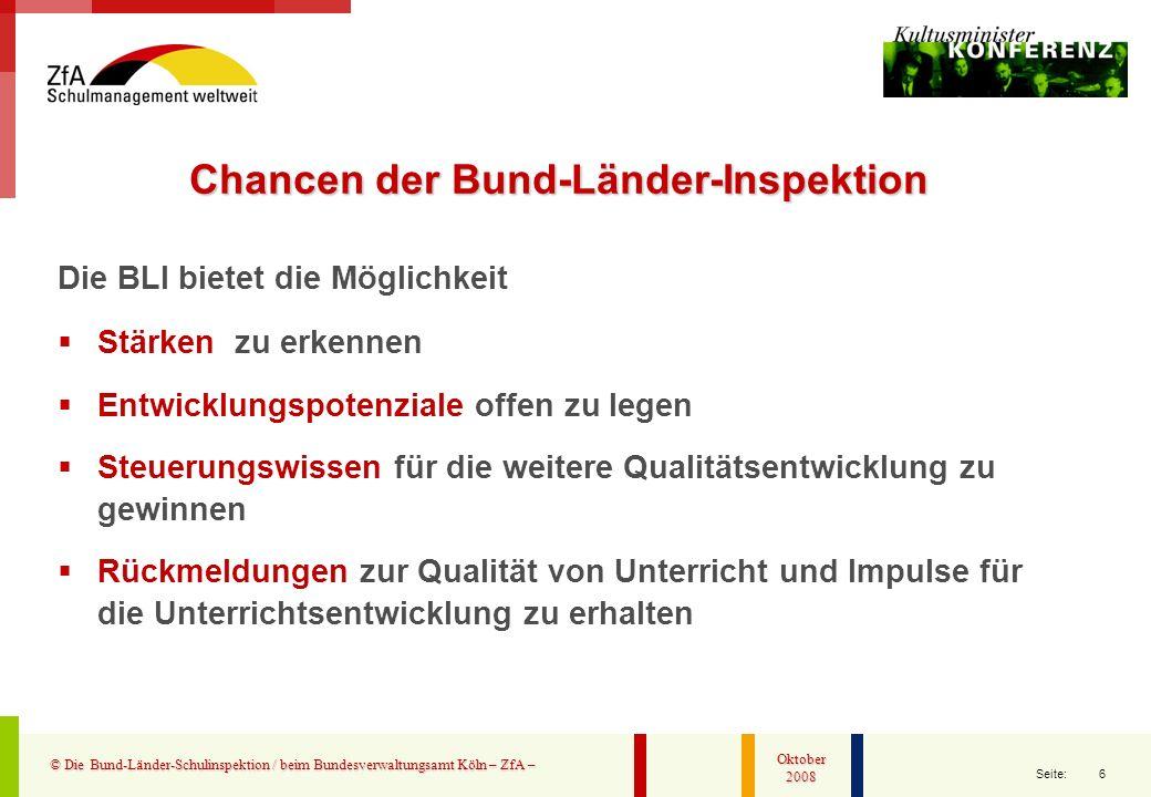 Chancen der Bund-Länder-Inspektion